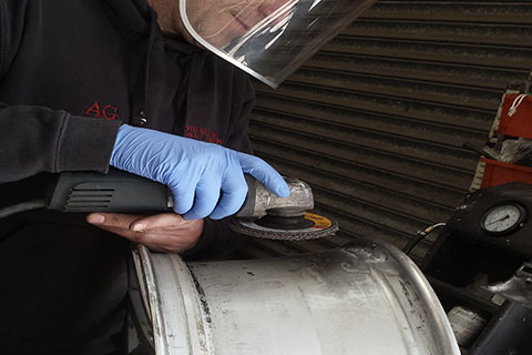 Alloy wheel repair process at CCM Gatwick